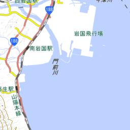 みんなの知識 ちょっと便利帳 隣接都道府県 隣接県 広島県と山口県の県境 瀬戸内海の甲島 かぶとじま を国土地理院の地図で見る