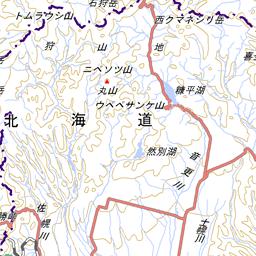 銃猟立入禁止区域図 北海道森林管理局